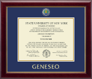 State University of New York Geneseo Diploma Frame - Masterpiece Medallion Diploma Frame in Gallery