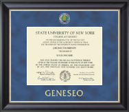 State University of New York Geneseo Diploma Frame - Regal Edition Diploma Frame in Noir