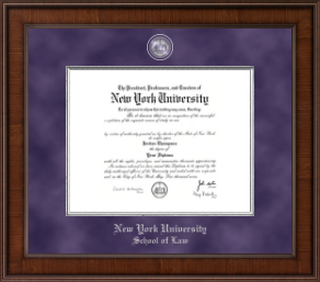 Nyu Diploma Frames For School Of Law Church Hill Classics