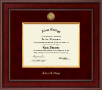 Alma College Diploma Frame - Presidential Gold Engraved Diploma Frame in Jefferson