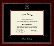 Alma College Diploma Frame - Gold Embossed Diploma Frame in Sutton