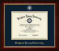 Brigham Young University Utah Diploma Frame - Masterpiece Medallion Diploma Frame in Murano