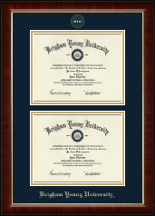 Brigham Young University Utah Diploma Frame - Double Diploma Frame in Murano