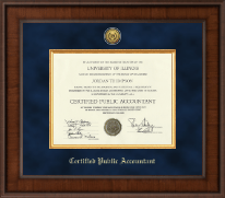 Certified Public Accountant Certificate Frame - Presidential Gold Engraved Certificate Frame in Madison