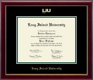Long Island University Post Diploma Frame - Gold Embossed Diploma Frame in Gallery