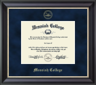 Messiah College Diploma Frame - Gold Embossed Diploma Frame in Noir