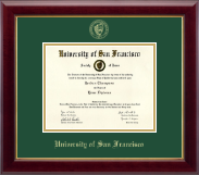 University of San Francisco Diploma Frame - Gold Embossed Diploma Frame in Gallery