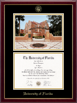 University of Florida Diploma Frame - Campus Scene Edition Diploma Frame in Gallery