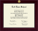 Taft Law School Diploma Frame - Century Gold Engraved Diploma Frame in Cordova