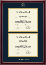 Taft Law School Diploma Frame - Double Diploma Frame in Gallery
