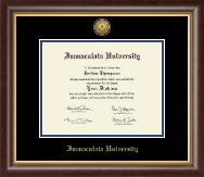 Immaculata University Diploma Frame - Gold Engraved Medallion Diploma Frame in Hampshire