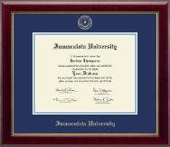 Immaculata University Diploma Frame - Gold Embossed Diploma Frame in Gallery