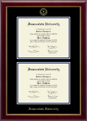 Immaculata University Diploma Frame - Double Diploma Frame in Gallery