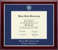 Boise State University Diploma Frame - Masterpiece Medallion Diploma Frame in Gallery Silver