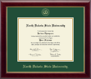 North Dakota State University Diploma Frame - Gold Embossed Diploma Frame in Gallery