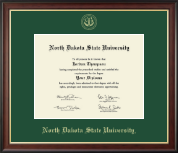 North Dakota State University Diploma Frame - Gold Embossed Diploma Frame in Studio Gold