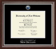 University of New Orleans Diploma Frame - Masterpiece Medallion Diploma Frame in Devonshire