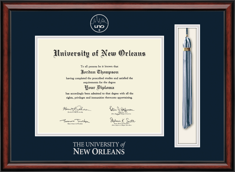 University Of New Orleans Diploma Frame