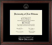 University of New Orleans Diploma Frame - Silver Embossed Diploma Frame in Studio