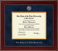 Our Lady of the Lake University Diploma Frame - Presidential Masterpiece Diploma Frame in Jefferson