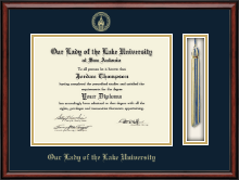 Our Lady of the Lake University Diploma Frame - Tassel Edition Diploma Frame in Southport