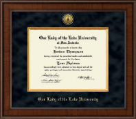 Our Lady of the Lake University Diploma Frame - Presidential Gold Engraved Diploma Frame in Madison