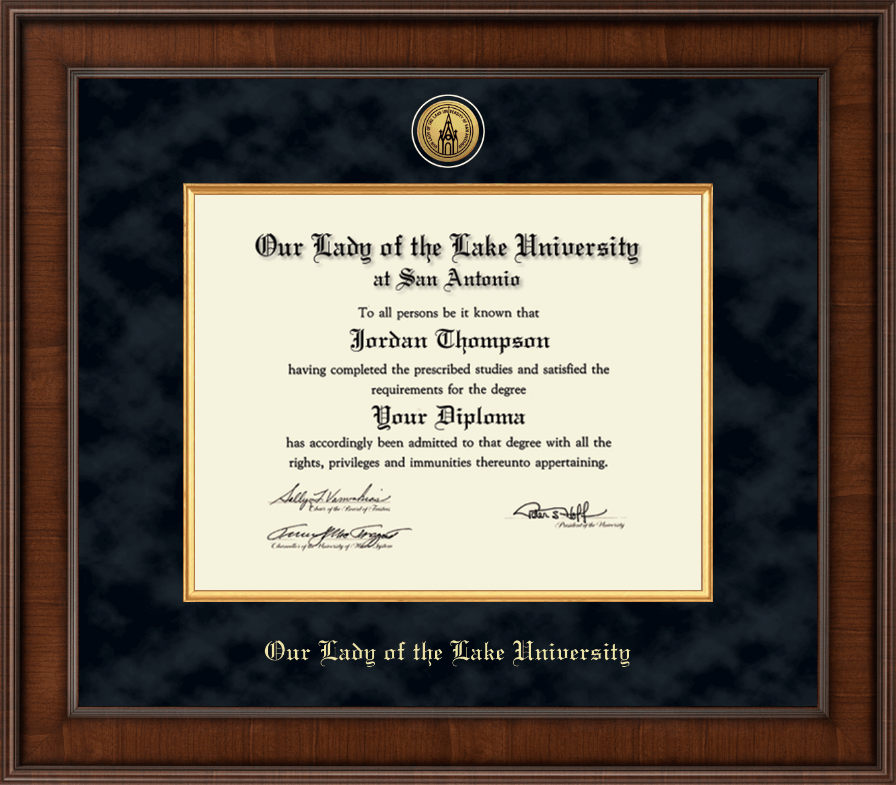 our lady of the lake university diploma frame presidential gold engraved diploma frame in madison - Diploma Frames With Tassel Holder
