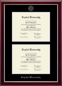 capital university diploma frames church hill classics capital university diploma frame double diploma frame in gallery silver