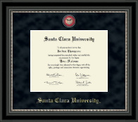Santa Clara University Diploma Frame - Regal Edition Diploma Frame in Noir