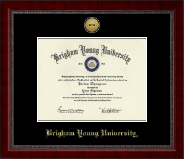 Brigham Young University Utah Diploma Frame - Gold Engraved Medallion Diploma Frame in Sutton