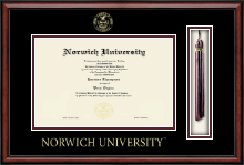 Norwich University Diploma Frame - Tassel Edition Diploma Frame in Southport