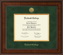 Endicott College Diploma Frame - Presidential Gold Engraved Diploma Frame in Madison
