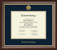 Endicott College Diploma Frame - Gold Engraved Medallion Diploma Frame in Hampshire