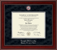 Temple University Law School Diploma Frame - Presidential Law Masterpiece Diploma Frame in Jefferson