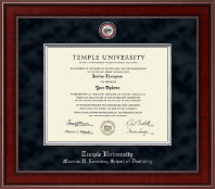 Temple University Diploma Frame - Presidential Masterpiece Diploma Frame in Jefferson