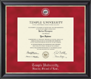Temple University Law School Diploma Frame - Regal Edition Law Diploma Frame in Noir