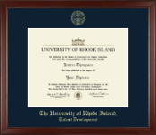 The University of Rhode Island Diploma Frame - Gold Embossed Diploma Frame in Sierra