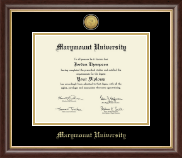 Marymount University Diploma Frame - Gold Engraved Medallion Diploma Frame in Hampshire