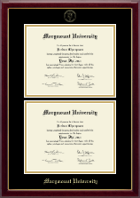 Marymount University Diploma Frame - Double Diploma Frame in Gallery