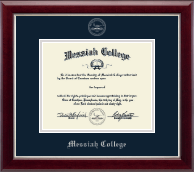 Messiah College Diploma Frame - Silver Embossed Diploma Frame in Gallery Silver