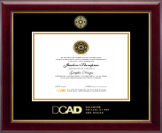 Delaware College of Art and Design Diploma Frame - Gold Embossed Diploma Frame in Gallery