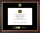 Delaware College of Art and Design Diploma Frame - Gold Embossed Diploma Frame in Studio Gold