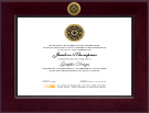 Delaware College of Art and Design Diploma Frame - Century Gold Engraved Diploma Frame in Cordova