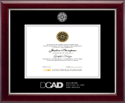 Delaware College of Art and Design Diploma Frame - Silver Embossed Diploma Frame in Gallery Silver