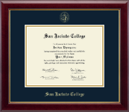 San Jacinto College Diploma Frame - Gold Embossed Diploma Frame in Gallery
