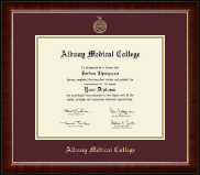 Albany Medical College Diploma Frame - Gold Embossed Diploma Frame in Murano