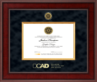 Delaware College of Art and Design Diploma Frame - Presidential Gold Engraved Diploma Frame in Jefferson