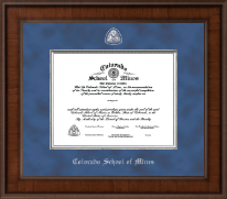 Colorado School of Mines Diploma Frame - Presidential Masterpiece Diploma Frame in Madison
