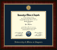 University of Maine at Augusta Diploma Frame - 23K Medallion Diploma Frame in Murano