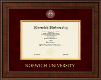 Norwich University Diploma Frame - Presidential Masterpiece Diploma Frame in Madison